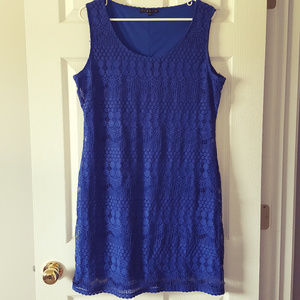 Tiana B. Royal Blue Sleeveless Dress